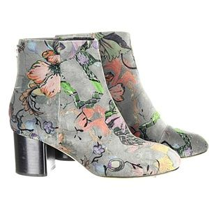 Rag & Bone Drea Floral Velvet Ankle Booties NEW